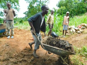 The Water Project:  Bringing Clay For Backfilling