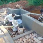 The Water Project: Jivovoli Community, Magumba Spring -  Stair Construction