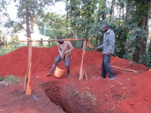 The Water Project:  Digging Latrine Pits By Hand