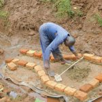 The Water Project: Busichula Community, Marko Spring -  Bricklaying Begins