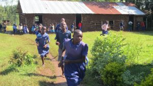 The Water Project:  Pupils Run To The Latrines