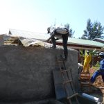 The Water Project: Ebukhuliti Primary School -  Attaching Dome Skeleton