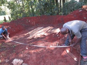 The Water Project:  Measuring Latrine Foundation