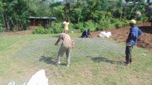 The Water Project:  Preparing Rain Tank Dome