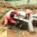 The Water Project: Malimali Community, Shamala Spring -  Plastering Interior Headwall
