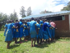 The Water Project:  The Ladies At The Latrines