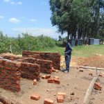 The Water Project: Mukama Primary School -  Latrine Wall Construction
