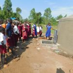 The Water Project: Mulwanda Mixed Primary School -  Students Learn The Parts Of The Rain Tank