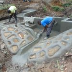 The Water Project: Buyangu Community, Mukhola Spring -  Cement And Plaster Work