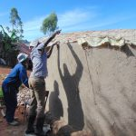 The Water Project: Kerongo Secondary School -  Tying Dome Form Onto Walls