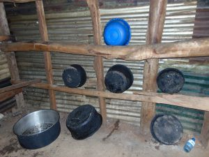 The Water Project:  Kitchen Wall Used As Dishrack