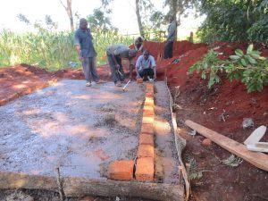 The Water Project:  Latrine Brickwork Begins