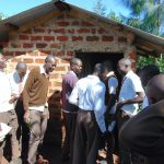 The Water Project: Kitagwa Secondary School -  Boys Crowd At Their Latrines