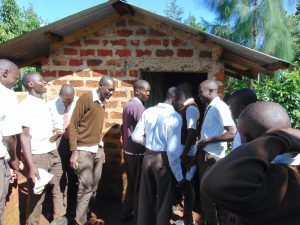 The Water Project:  Boys Crowd At Their Latrines