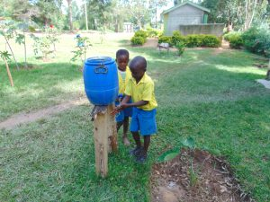 The Water Project:  Pupils Use A Handwashing Station