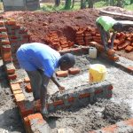 The Water Project: Ebukhuliti Primary School -  Latrine Foundation And Brickwork