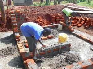 The Water Project:  Latrine Foundation And Brickwork