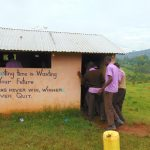 The Water Project: Friends Musiri Secondary School -  Boys Wait In Line For The Toilet
