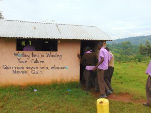 The Water Project:  Boys Wait In Line For The Toilet