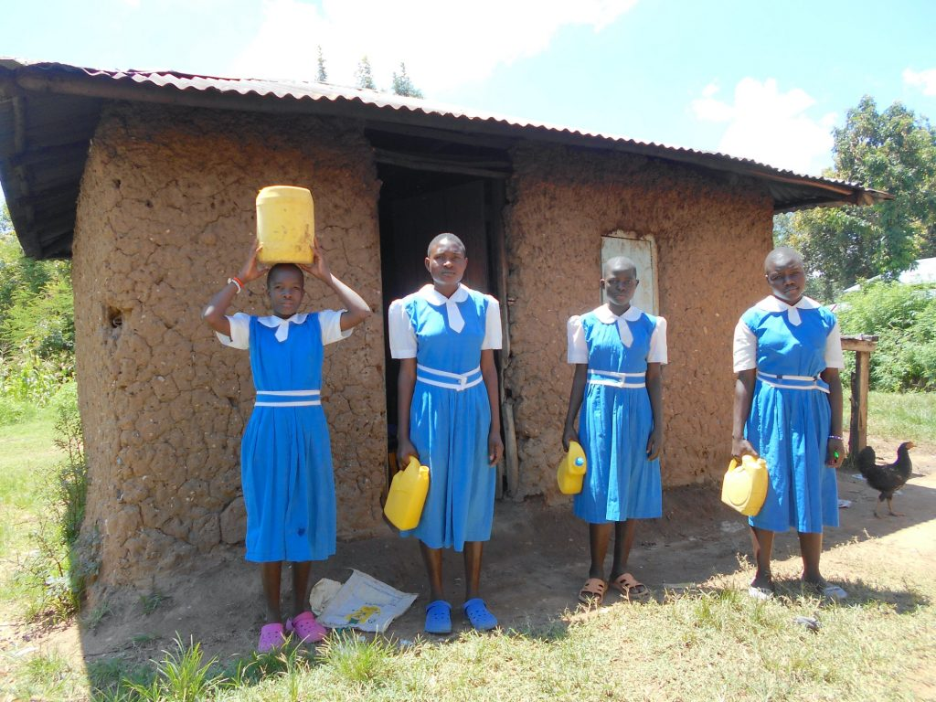 The Water Project : 19-kenya20135-students-deliver-water-to-the-kitchen