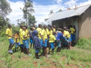 The Water Project:  The Gents Queueing At The Latrines