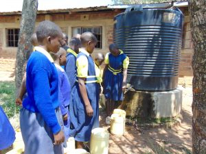 The Water Project:  Fetching Water From Small Tank