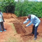 The Water Project: Kerongo Secondary School -  Digging Latrine Pits By Hand