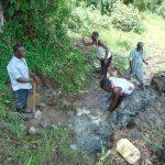 The Water Project: Buyangu Community, Mukhola Spring -  Excavation