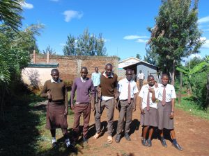 The Water Project:  Students At The School Entrance