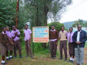 The Water Project:  Students And Staff At School Entrance