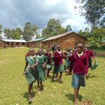 The Water Project: Wavoka Primary School -  Students Run To The Playground