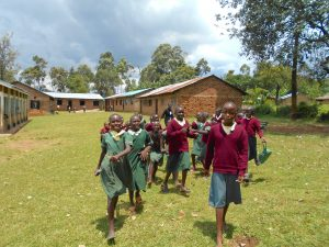 The Water Project:  Students Run To The Playground