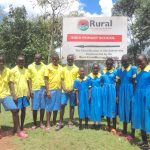 The Water Project: Isikhi Primary School -  Pupils Posing Next To Signpost