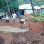 The Water Project: St. Joseph's Lusumu Primary School -  Forming Concrete Foundation