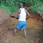 The Water Project: Jivovoli Community, Magumba Spring -  Excavation