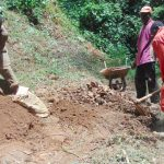 The Water Project: Kisasi Community, Edward Sabwa Spring -  Mixing Cement