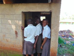 The Water Project:  Girls Crowd At Their Latrines