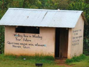 The Water Project:  Inspirational Messages On Boys Latrines