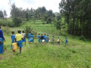 The Water Project:  Pupils Head To The Spring For Water