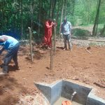 The Water Project: Shivembe Community, Murumbi Spring -  Fencing