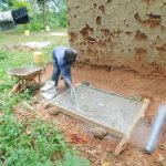 The Water Project: Shikhombero Community, Atondola Spring -  Sanitation Platform Construction