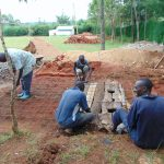 The Water Project: Kerongo Secondary School -  Forming Latrine Foundation