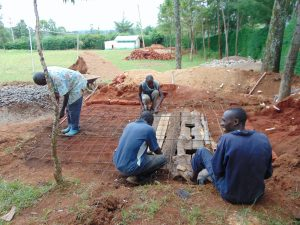 The Water Project:  Forming Latrine Foundation