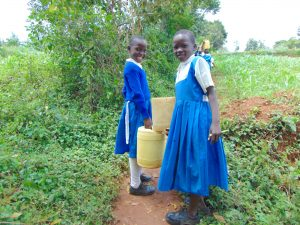 The Water Project:  Pupils Sharing Water On Way From Spring