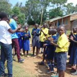 The Water Project: Kosiage Primary School -  Handwashing Session Outside