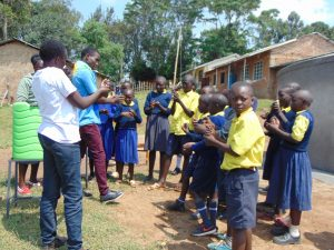 The Water Project:  Handwashing Session Outside