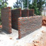 The Water Project: Ebukhuliti Primary School -  Latrine Stalls Take Shape