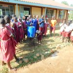 The Water Project: Mulwanda Mixed Primary School -  Student Washes Her Hands
