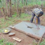 The Water Project: Jivovoli Community, Magumba Spring -  Sanitation Platform Construction