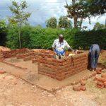 The Water Project: Kerongo Secondary School -  Latrine Brickwork
